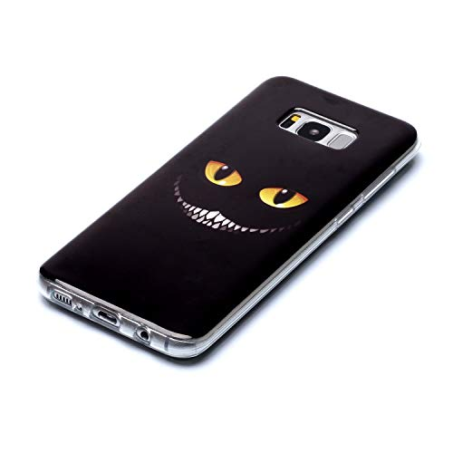 QC-EMART 3PCS Cases for Samsung Galaxy S8 Plus Soft Silicone TPU Gel Back Case Protective Cover 3D Cool Cute Animal Pattern Shockproof Protection Bumper Covers Blue Wolf Cat Tiger Smile Face