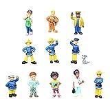 smileh Sam El Bombero Cake Topper Figuras Bombero Figuras Decoración Para Tarta Bombero Mini Figuras Set 12 Piezas