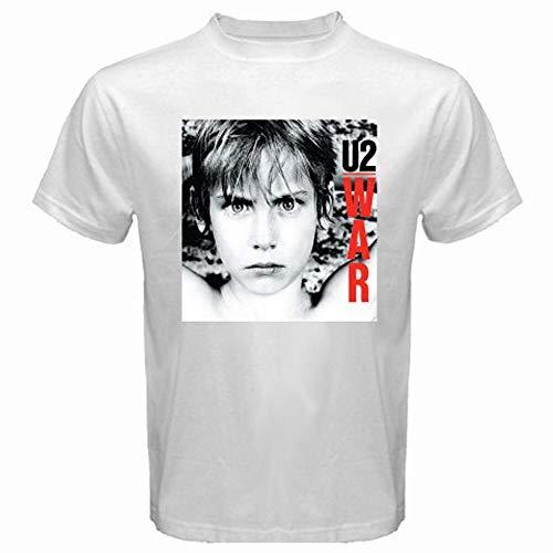 U2 War Rock Band Cover Logo Men's White T-Shirt Size S To 3XL