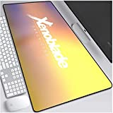 Speed Gaming Mouse Pad Xenoblade Cronicles Teclados Mat Mat Large Mat MATERIENTE Accesorios Accesorios 900x400mm para Oficina en casa Computadora de Trabajo Información de PC (Color : D)