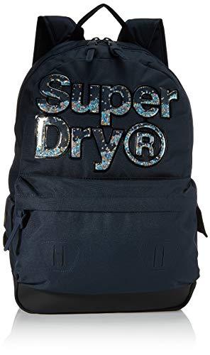 Superdry Aqua Star Montana, Sac Dos Femme, Bleu Marine, Taille Unique
