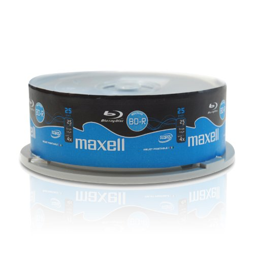 BLU-RAY - Maxell BD-R 25Gb, velocità 1-4x, stampabile (fullprintable) - Campana da 25pz