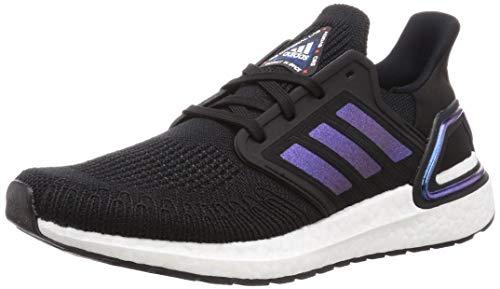 adidas Herren Ultraboost 20 Laufschuhe, Schwarz (Core Black/White Met./FTWR Violet Blau Boost), 44 EU
