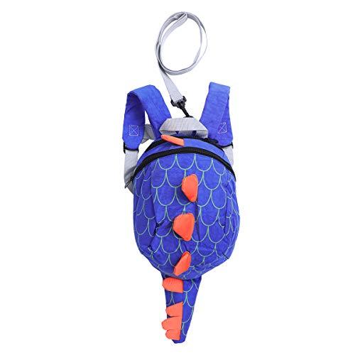 TENDYCOCO Kinder Sicherheit Schultasche Cartoon Kinder verstellbare rucksäcke mädchen Jungen lässig Anti-verlorene Dinosaurier Schultasche (blau)
