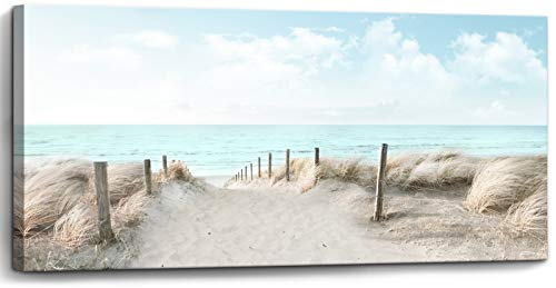 Large Canvas Wall Art Sky Beach Painting Picture Print on Canvas Framed Wall Art for Living Room Wall Decor for Bedroom Modern Coastal Landscape Room Decorations Artwork Size 60x30 Ready to Hang