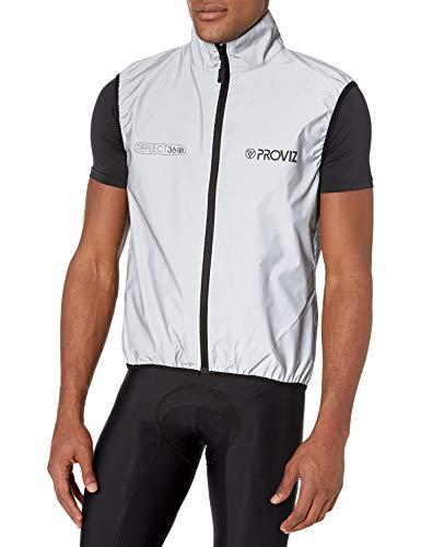 Proviz Homme reflètent 360 Cyclisme Veste-Argent//réfléchissant Large