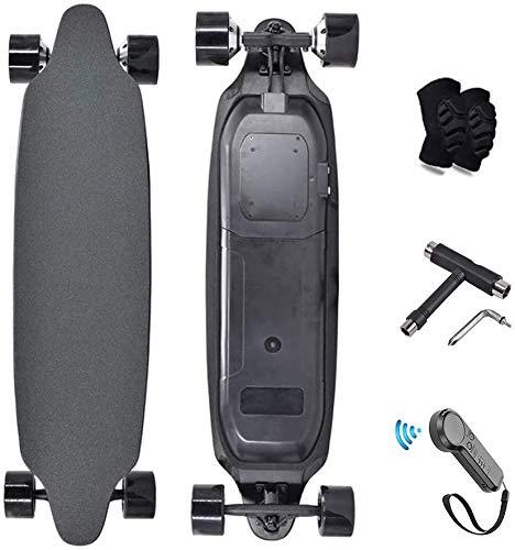 WHL.HH Elektronisch Skateboard mit Doppelmotor Clever Skateboards, Hoch Geschwindigkeit 25 Mph, 18.6 Meilen Angebot Elektrisch Longboard zum Pendler und Hochschule Studenten,A