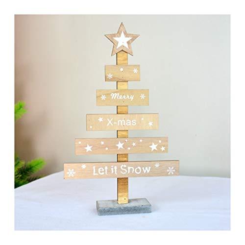 WUFANGFF Nordic/Legno/Creative Windows Desktop/Mini/Albero di Natale Ornamenti Triangolo / / Decorazioni di Natale