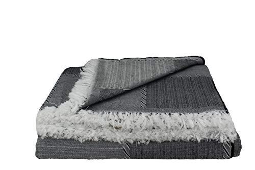 Desconocido Colcha Multiusos para Sofa, Manta Foulard, Plaid, cubrecama. (Negro, 180x290)