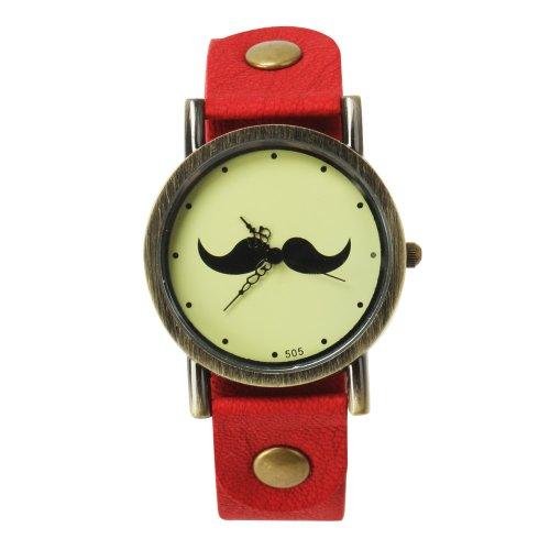 SSITG Reloj Reloj de Pulsera Reloj de Cuarzo Barba Trend Blogger Retro Vintage Watch Regalo Gift ss00146