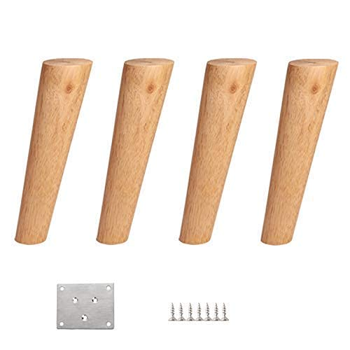 WYBW Patas de soporte para muebles, Patas de sofá de madera maciza/Patas de soporte cónicas/Patas para muebles de bricolaje/Para mesa de centro, taburete, mueble de TV, patas de mesa, mesa de t