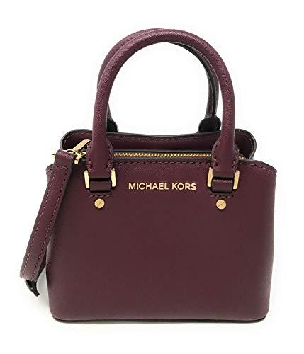 Michael Kors Mini Savannah XS Saffiano Leather Satchel Crossbody Bag (Merlot)