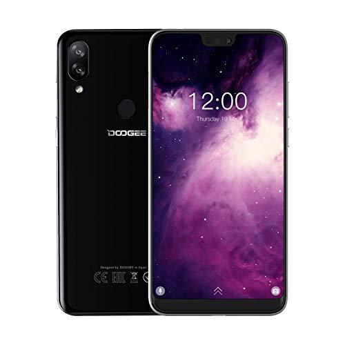 DOOGEE N10 4G Telefoni Cellulari in Offerta, Android 8.1 Smartphone Economici Dual SIM 5.84'' FHD+ 19: 9 Display Octa core 3 GB+32 GB, Telecamera 16 MP+16 MP+13 MP, 3360 mAh Fingerprint Face ID - Nero