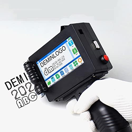 ZJM Impresora De Etiquetas De Mano, Impresora De Tinta Portátil con Pantalla Táctil De 4.3 Pulgadas, Altura De Impresión 2-25.4Mm, para Texto/Fecha De Producción/Código De Barras/Código QR/Logo