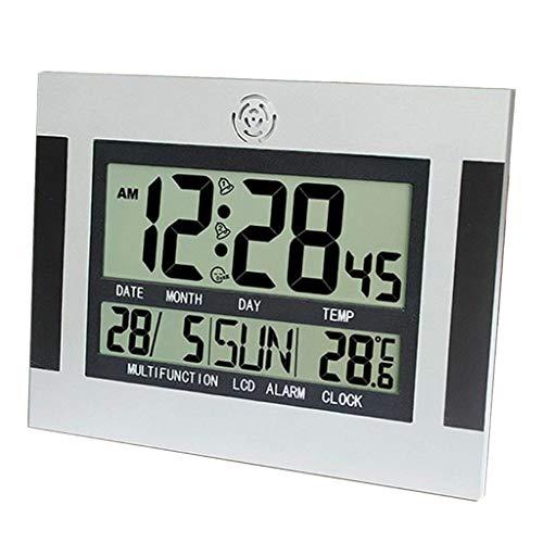 Gazechimp Reloj con Luz Nocturna, Reloj Despertador Digital Pantalla LCD Grande con Atenuador Bajo Y Alto
