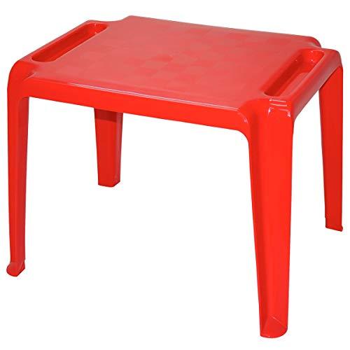 Mesa Plástica Monobloco Infantil Dona Chica Tramontina Vermelha