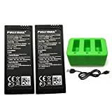 ZYGY 2PCS 3.8V 1100mah batería Lipo y 3 en 1 Cargador para Tello RC Quadcopter Repuestos (Verde)