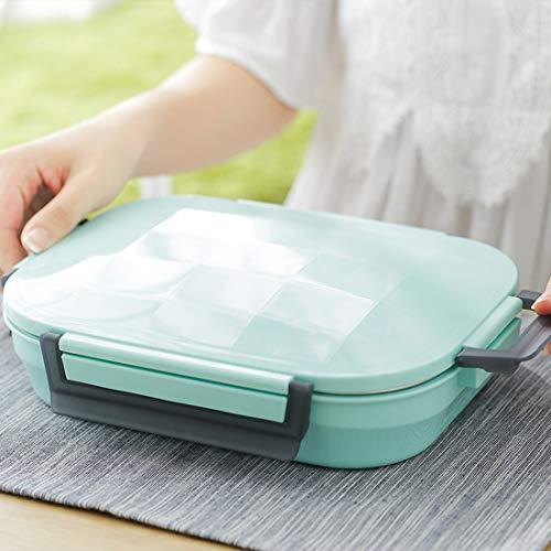 Boîte à lunch en acier inoxydable, étanche/vaisselle pour enfant/chauffé pour lunch/boîte à déjeuner pour adulte/boîte à repas chaud/boîte à repas pour adultes Vert