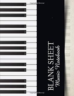 Blank Sheet Music Notebook: Music Manuscript Paper | Black a