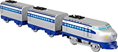 Create exciting Thomas and Friends adventures with this battery-powered, motorized toy train engine Push the switch on top of the engine to send Kenji racing along on an exciting journey This motorized toy train is compatible with all TrackMaster tra...