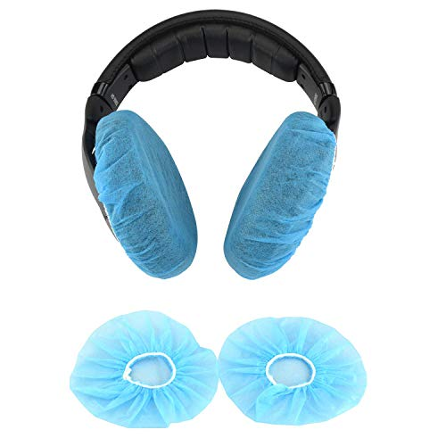 Aviation Headphone Covers etc More Over The Ear Headphones Racing Training Gaming Black Ancable 2-Pairs Washable Flex Headset Earpad Cloth Cover for Gym