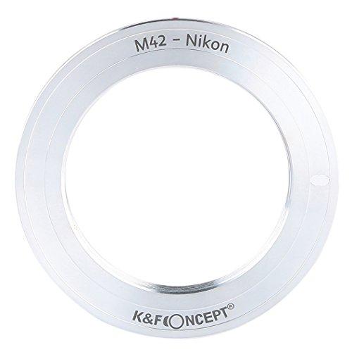 K&F Concept レンズマウントアダプター KF-42F-M (M42マウントレンズ → ニコンFマウント変換)近接撮影専用