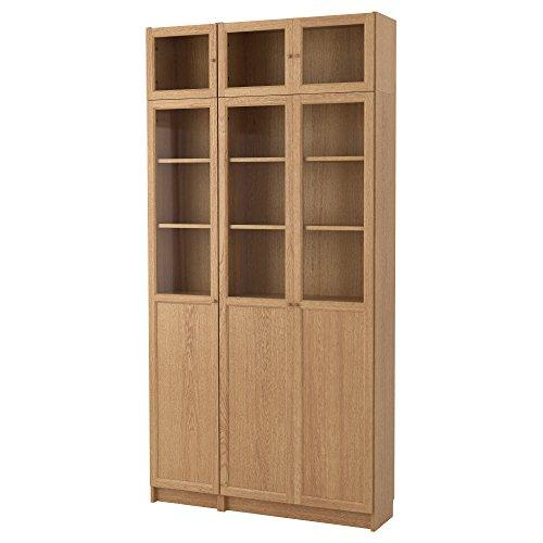 Zigzag Trading Ltd IKEA Billy/OXBERG - Librería Roble Chapa/de Vidrio 2 Pack & Libra; 21