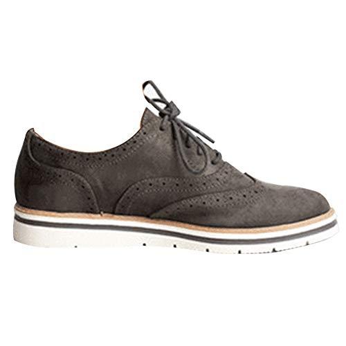 Zapatos de Cuero Casual Mujer Zapatos Planos con Cordones Mujer Oxford Vestido Mocasines Zapatos de Negocios Hechos a Mano Mocasines de conducción de Zapato