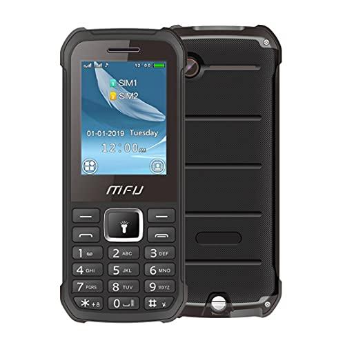 Téléphone Portable Senior basiqu darty 2G MFU A608,Grand écran de 2,4 Pouces Débloqué avec Grandes Touches Big Volume Grosse Police Caméra FM SOS Power Bank Batterie 3000 mAh,Noir