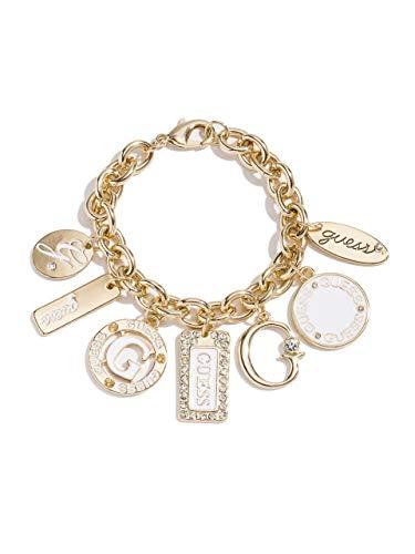 GUESS Factory Women's Gold-Tone Enamel Plates Bracelet