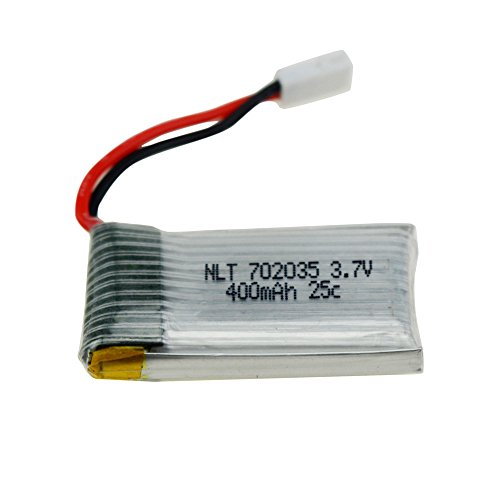 Islandse 1 Pcs 3.7V 400mAh Battery for Drone JJRC H31 RC Quadcopter White