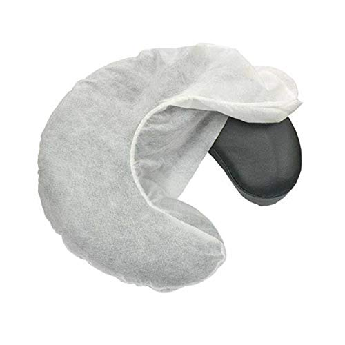 ZMDREAM 50 count Fitted Disposable Headrest Covers Face Cradle Covers (white)