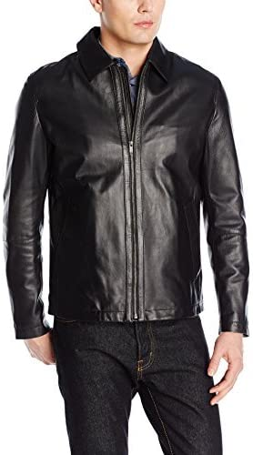 Cole Haan Men's Smooth Matte Lamb Leather Shirt Jacket