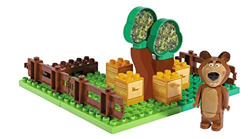 BIG- Masha y el Oso Bloques de construcción, Color Verde/Amarillo/marrón (800057092)