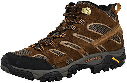 Merrell Men's Moab 2 Vent Mid Hiking Boot, Earth, 9 M US