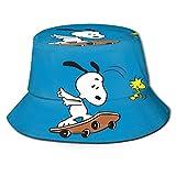 Anime Sn-oopy Sombrero de Pescador protección UV de Verano Sombreros de Cubo de Viaje Gorra de Sol Plegable de Playa para Hombres y mujeres-H89