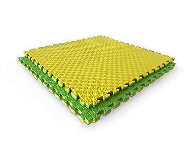 Suelo goma eva tatami puzzle. Adecuado como suelo para gimnasio o como suelo puzzle protector para bebé, 1m x 1 m x 25 mm. Disponible por unidades o pack de 5.