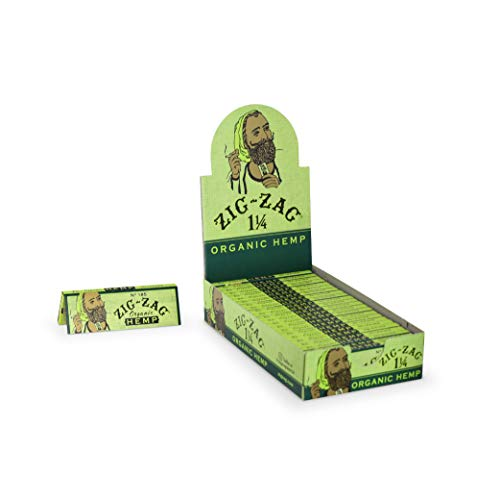 Zig-Zag Rolling Papers Hemp Organic 1 1/4 Size Unbleached Vegan (24 Booklet Carton)