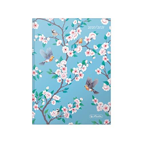 herlitz 50029129 Schülerkalender 2020/2021 Basic, A5, Motiv: Birds, 1 Stück