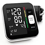 "Blood Pressure Monitor Upper Arm Automatic Digital BP Meter 2x120 Reading Memory Voice Broadcast Backlight Display 8.7""-15.7""Wide Range Cuff Fast Reading for Home Use"