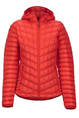 Marmot Wm's Featherless Hoody Veste Isolée, Manteau d'extérieur Chaud, Anorak déperlant, Coupe-Vent Femme Victory Red FR: XL (Taille Fabricant: XL)