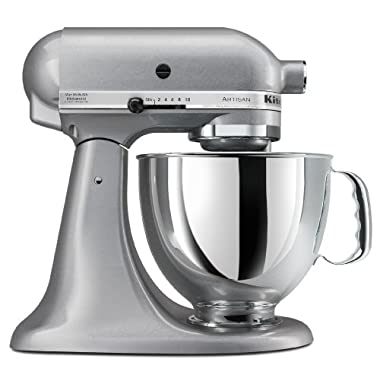 KitchenAid KSM150PSSM Artisan Series 5-Quart Stand Mixer, Silver Metallic [Discontinued]