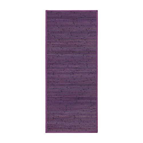 Lola Home Alfombra para salón de bambú (75 x 175 cm, Violeta)