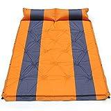 Esterilla Camping,Esterilla Hinchable 2 persona colchón de aire autoinflando tienda de campaña para dormir almohada adjunta almohada inflable camping colchón de dormir ultraligera ( Color : Orange )