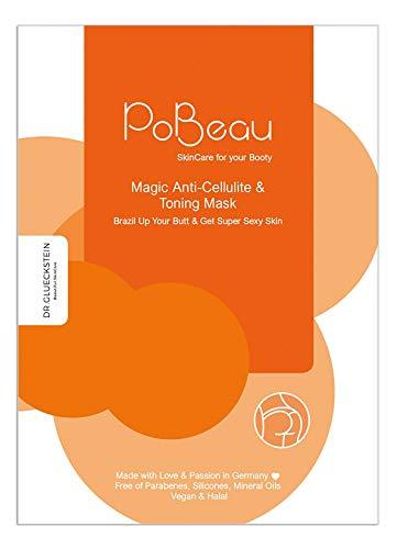 PoBeau Anti-Cellulite Hydrogel Po-Maske   12 ml   mit Koffein und Carnitin. Straffungseffekt mit innovativem, fettlösendem Wirkstoff aus Senfsprossen und Carnitin