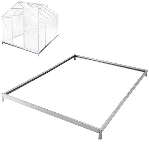 TecTake Fundament für Gewächshaus aus verzinkten Stahl 250x185 cm