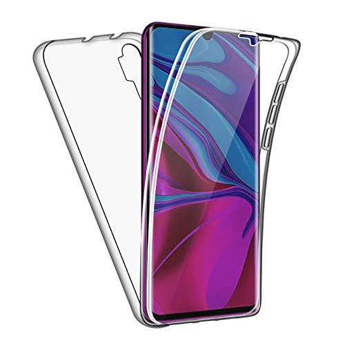 TBOC Funda para Xiaomi Mi Note 10 - Mi Note 10 Pro [6.47'] - Carcasa [Transparente] Completa [Silicona TPU] Doble Cara [360 Grados] Protección Integral Total Delantera Trasera Lateral Móvil