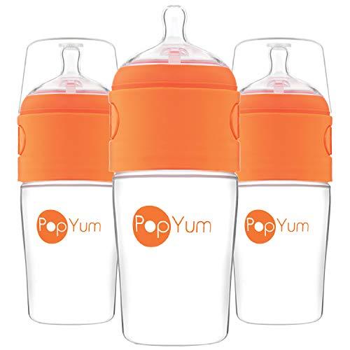 PopYum 9 oz Anti-Colic Formula Making / Mixing / Dispenser Baby Bottles, 3-Pack