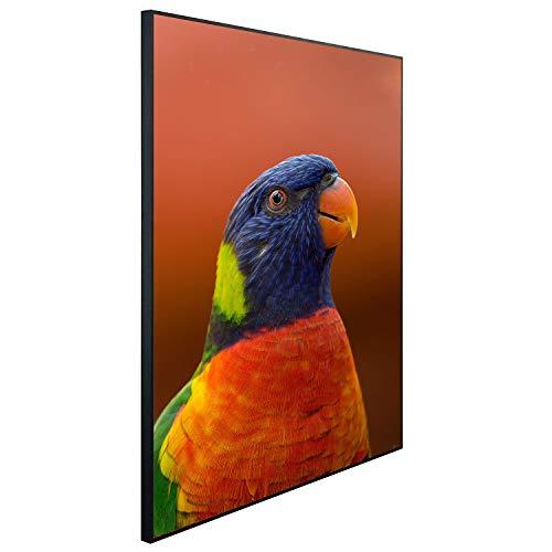 Ecowelle Infrarotheizung mit Bild | 1200 Watt | 114x100x3cm | Infrarot Heizung| | Made in Germany| b 89 Papagei