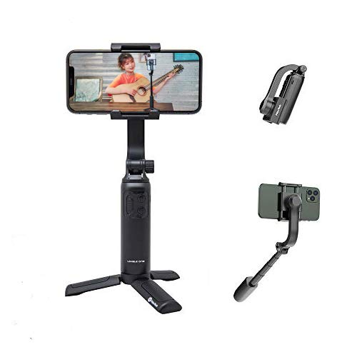 FeiyuTech Vimble One Smartphone Selfile Stick Stabilizer,Bluetooth,18cm-Extension,App(iOS/Android),Anti-Shaking for iPhone 12 pro 12mini 11 Samsung Huawei,MI,Vlog YouTube Live Streaming,Tripod